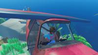 木筏求生-海上漂流记 孤岛发现一架飞机!修好开走它