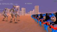 史诗战争模拟器:2000辆托马斯小火车挑战5个雷杰多奥特曼