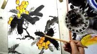 写意枇杷的完整构图画法之勾勒画法-小石国画
