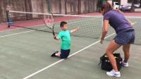 【7岁】9-3哈哈暑假网球训练,跪式击球练习IMG_0874.MOV