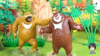 熊出没之熊大熊二组成森林二人合唱组 46