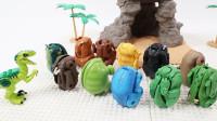 开箱11个炫酷的侏罗纪恐龙变形玩具蛋