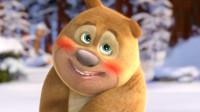 熊出没之雪岭熊风,熊二堆雪人好厉害,一只白熊马上就堆好了