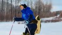 张嘉倪滑雪差点摔倒,还没开始撒娇呢买超就立马柠檬精上身!