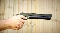 精度超高的气手枪射击测试,命中目标集中,射击比赛都能用!