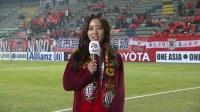 太可爱了吧!韩国美女主播赛前报道鲁能大战庆南FC