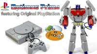 变形金刚PlayStation 1游戏主机版擎天柱机器人变形玩具