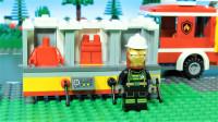 定格动画-乐高超级英雄钢铁侠挑选消防车服装