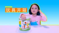 切水果玩具开箱,切切乐木质磁性水果蔬菜组合套装,儿童过家家水果切切看玩具