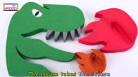 动力学沙子, 彩泥DIY制作彩虹西瓜和恐龙喷火, 为孩子们学习颜色童谣歌曲!