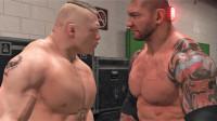 巴蒂斯塔后台暴打布洛克莱斯纳!WWE2K19