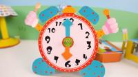 手工折纸小闹钟,看看小闹钟现在几点了
