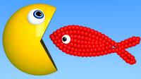 吃豆人:在水下吃鱼来获取颜色?(颜色认知)游戏