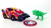 心奇暴龙战车霸王龙变形对战玩具