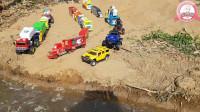 搭一座小桥让超级多的玩具小车过河吧