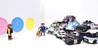 定格动画-21个不同类型的警车玩具潜入3色门盒