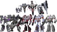 5个不同版本的变形金刚威震天机器人变形玩具