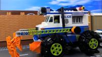 定格动画-乐高城市故事之乐高警察大型改装警车追捕