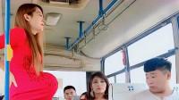 公交车上搞笑,两个孕妇,看完不许笑