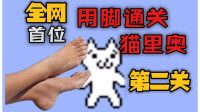 全网首个用脚通猫里奥第二关的男人,这操作是真的骚