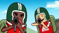搞笑吃鸡动画:团队陷入危机,马可波发动主角光环,一人扭转全局!