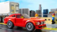 乐高MOC拼装福特野马Mustang GT 2005跑车积木