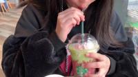 【星巴克樱花新品】樱之抹茶拿铁+粉樱冰抹茶拿铁试喝