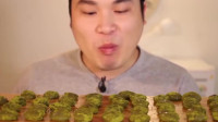 韩国吃播:Donkey弟弟吃抹茶软糖看上去超级美味
