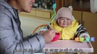宝宝看到宝妈挑面条,以为是给自己,可激动了,表情真喜感