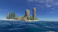 荒岛求生143:我返回战神岛,在石像脚下,发现了3把新AK