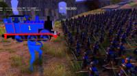 史诗战争模拟器:1000个中国古代大刀兵围攻1个托马斯小火车,谁先躺下呢?