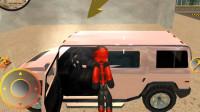 火柴人绳索英雄:继续偷车任务第二辆需要悍马游戏