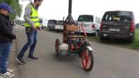 拉风的蒸汽动力自行车,跑起来直冒烟!