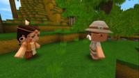 迷你世界:村长为儿子探花小楼和妮妮!花小楼很坏,妮妮心很善良