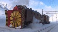 世界上最霸气的火车,车头装着螺旋桨,暴雪天开得更溜!
