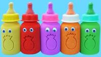 早教色彩认知DIY婴儿奶瓶,小朋友学习认识颜色数字分享礼物啦!
