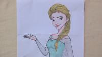 手绘DC漫画穿越到迪士尼的世界,用1张纸创意手工展示,太可爱了