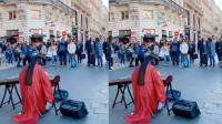 古风小姐姐法国街头走红,古筝弹出王者气势,老外路人围观拍照