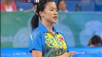 王楠VS郭跃乒乓球比赛,两大女王都左撇子,王楠冲劲极强!