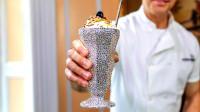 世界最贵冰淇淋价值600万,黄金白金钻石打造,吃完可还行?