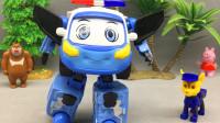 城市的守护者小治 警车联盟变形玩具