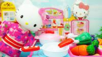 凯蒂猫厨房玩具 和料理达人凯蒂猫一起炒菜