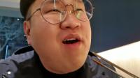 大胃王胖哥,吃流油烤五花肉,这么肥吃着不腻吗