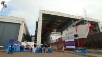 江南造船新一代大型航标船下水