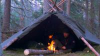 徒步丛林,搭建帐篷生火烤牛肉,晚上就在这过夜了!