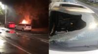 女子因不满男友与自己分手 点火烧对方新车