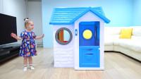 萌娃小可爱的玩具房子发生了故障,小家伙束手无策!—萌娃:我还是叫哥哥来帮忙吧!