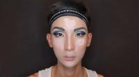 小哥哥化上女生妆容,妆后一点也看不出来,强大的化妆术!
