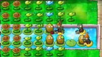 育儿玩具儿童小游戏:植物大战僵尸2,僵尸的游泳圈像是小鸭子!猴子玩具