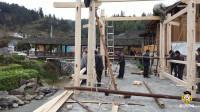 农村搭建的木房子,纯人力建造,看完才知道建木房比建砖房更困难